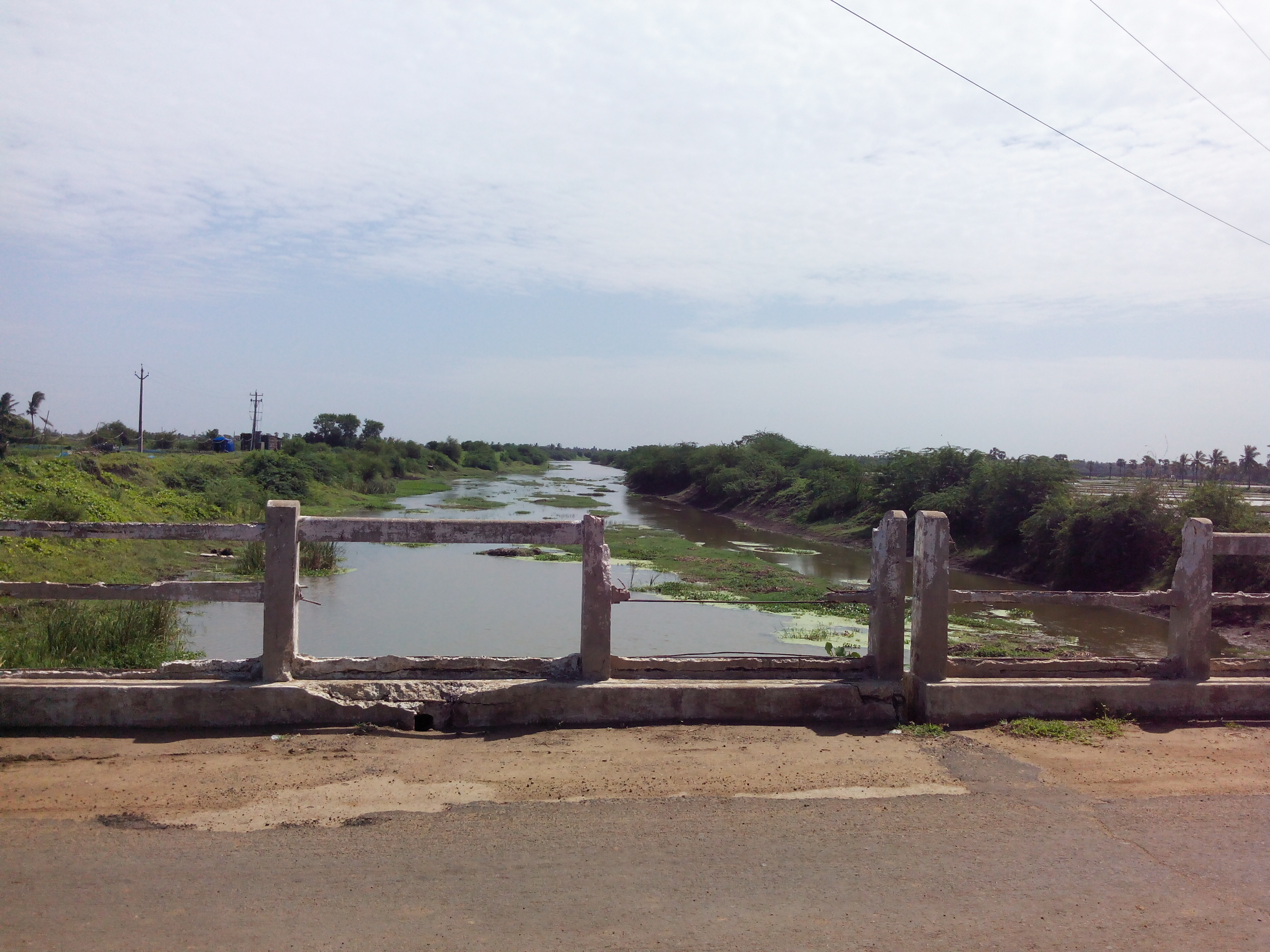 Putlacheruvu Main Road Bridge - Pedda Muruki Kaluva Canal View