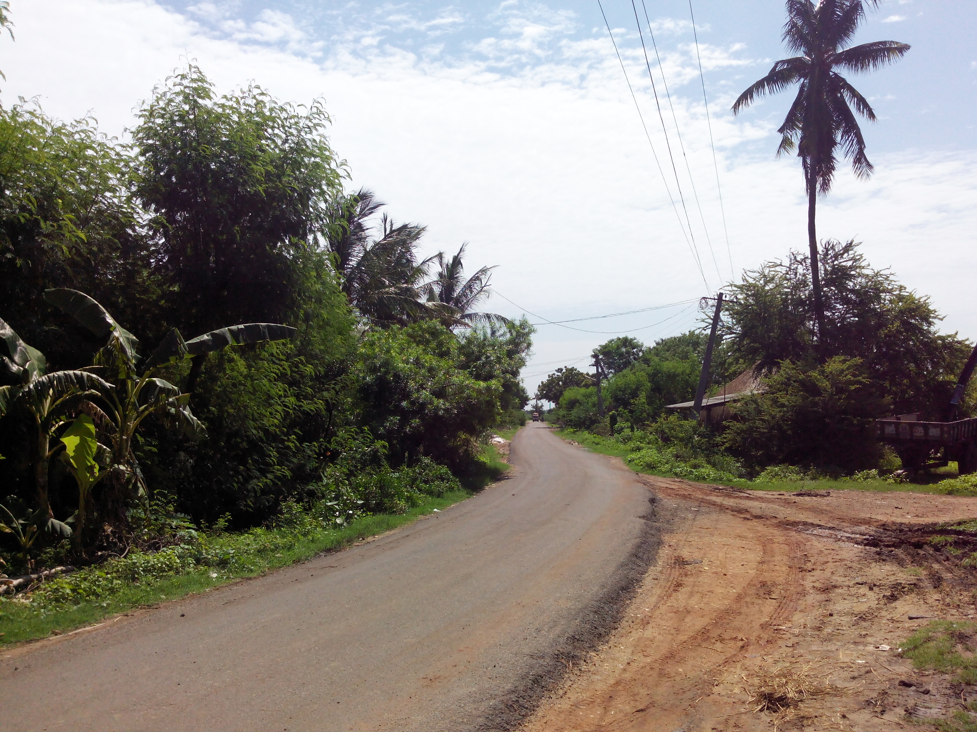 Putlacheruvu Railway Station Road Near Station Pond
